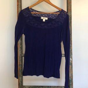 Bright purple/blue long sleeve top